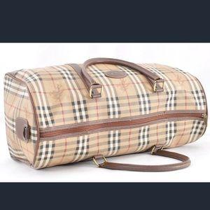 Vintage Burberry Duffle Bag